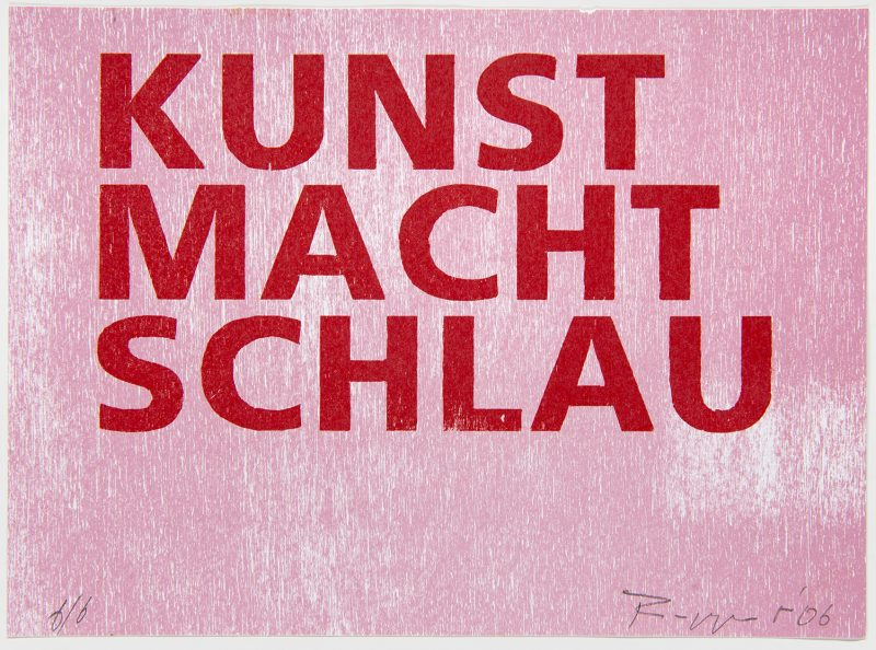 """Tobias Ruppert, """"KUNST MACHT SCHLAU"""", 2007"""