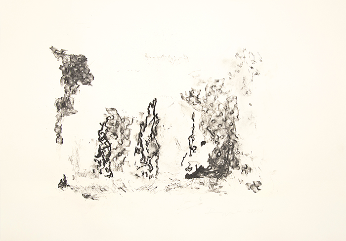 "TobiasRuppert, ""Uraufführung M. Wermüller; Motiv 2"", 26/11/2016_2, Kohle"