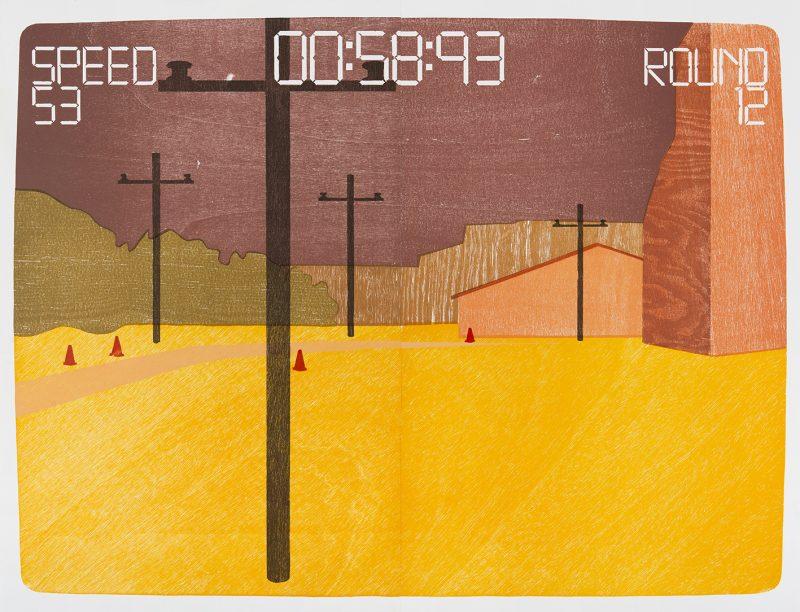 "Tobias Ruppert, ""Landscape Manager_IMG003"", 2005, Holzschnitt"