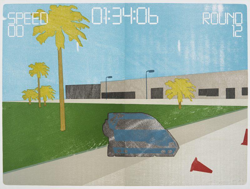 "Tobias Ruppert, ""Landscape Manager_IMG003"", 2007, Holzschnitt"